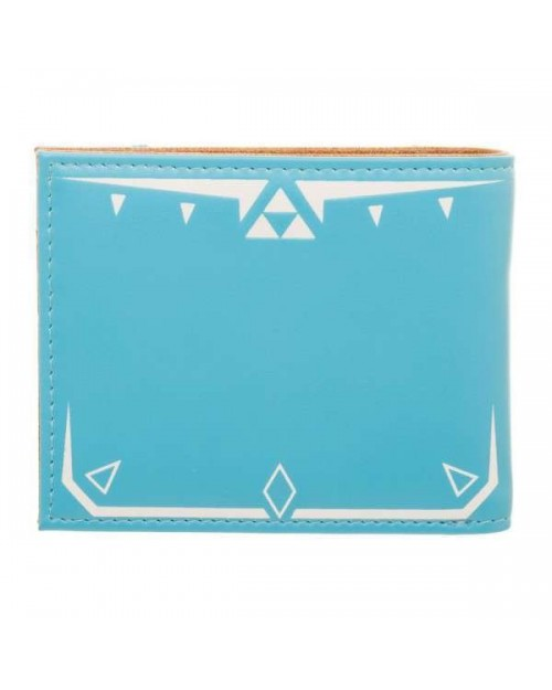 OFFICIAL NINTENDO - THE LEGEND OF ZELDA: BREATH OF THE WILD - BLUE COSTUME BI-FOLD WALLET