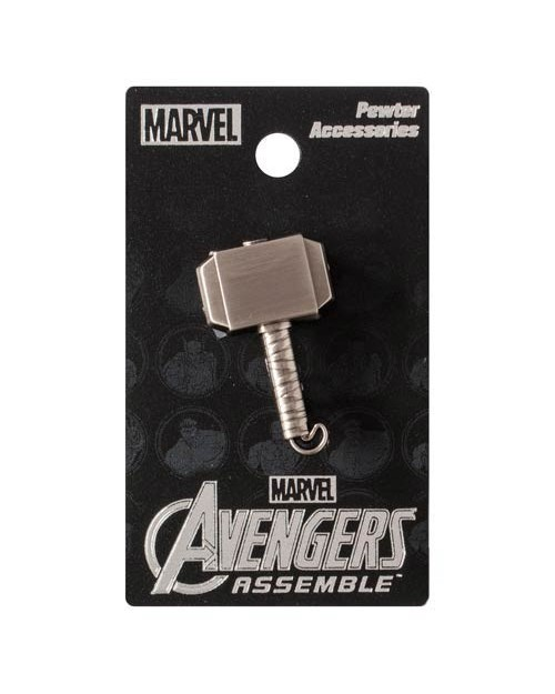 OFFICIAL MARVEL COMICS THOR MJOLNIR HAMMER GREY PIN BADGE