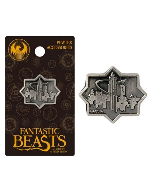 OFFICIAL FANTASTIC BEASTS AND WHERE TO FIND THEM - MACUSA CITY GREY LAPEL BADGE