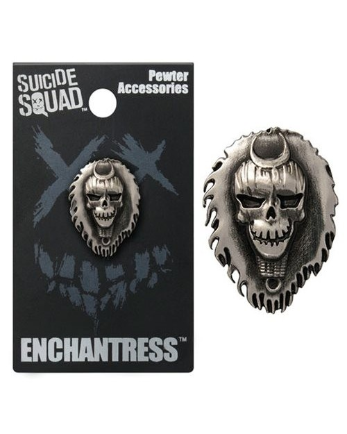 OFFICIAL DC COMICS - SUICIDE SQUAD ENCHANTRESS GREY LAPEL BADGE
