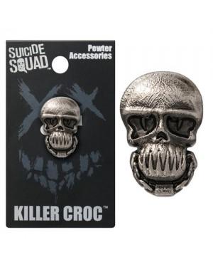 OFFICIAL DC COMICS - SUICIDE SQUAD KILLER CROC GREY LAPEL BADGE