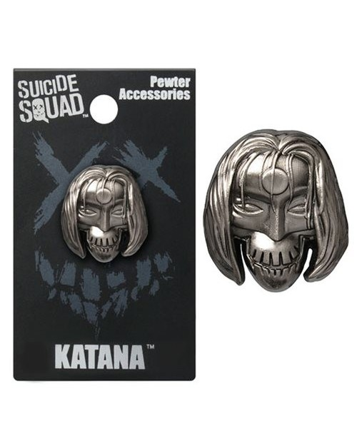 OFFICIAL DC COMICS - SUICIDE SQUAD KATANA GREY LAPEL BADGE
