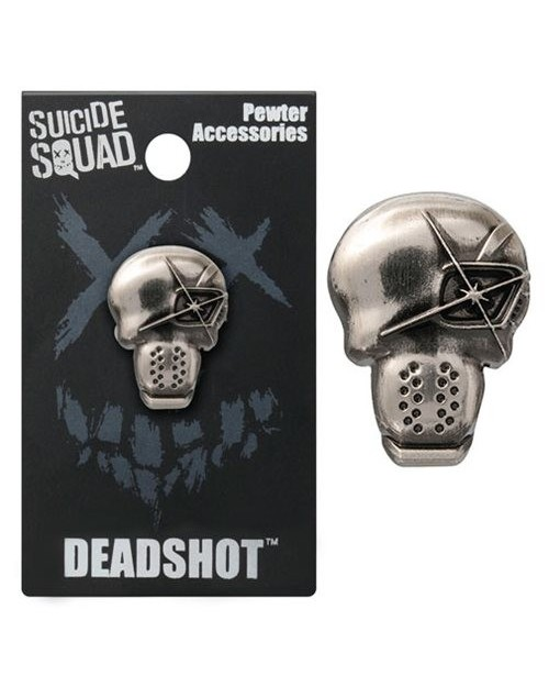 OFFICIAL DC COMICS - SUICIDE SQUAD DEADSHOT GREY LAPEL BADGE
