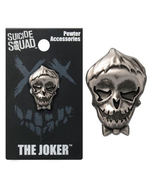 OFFICIAL DC COMICS - SUICIDE SQUAD THE JOKER GREY LAPEL BADGE