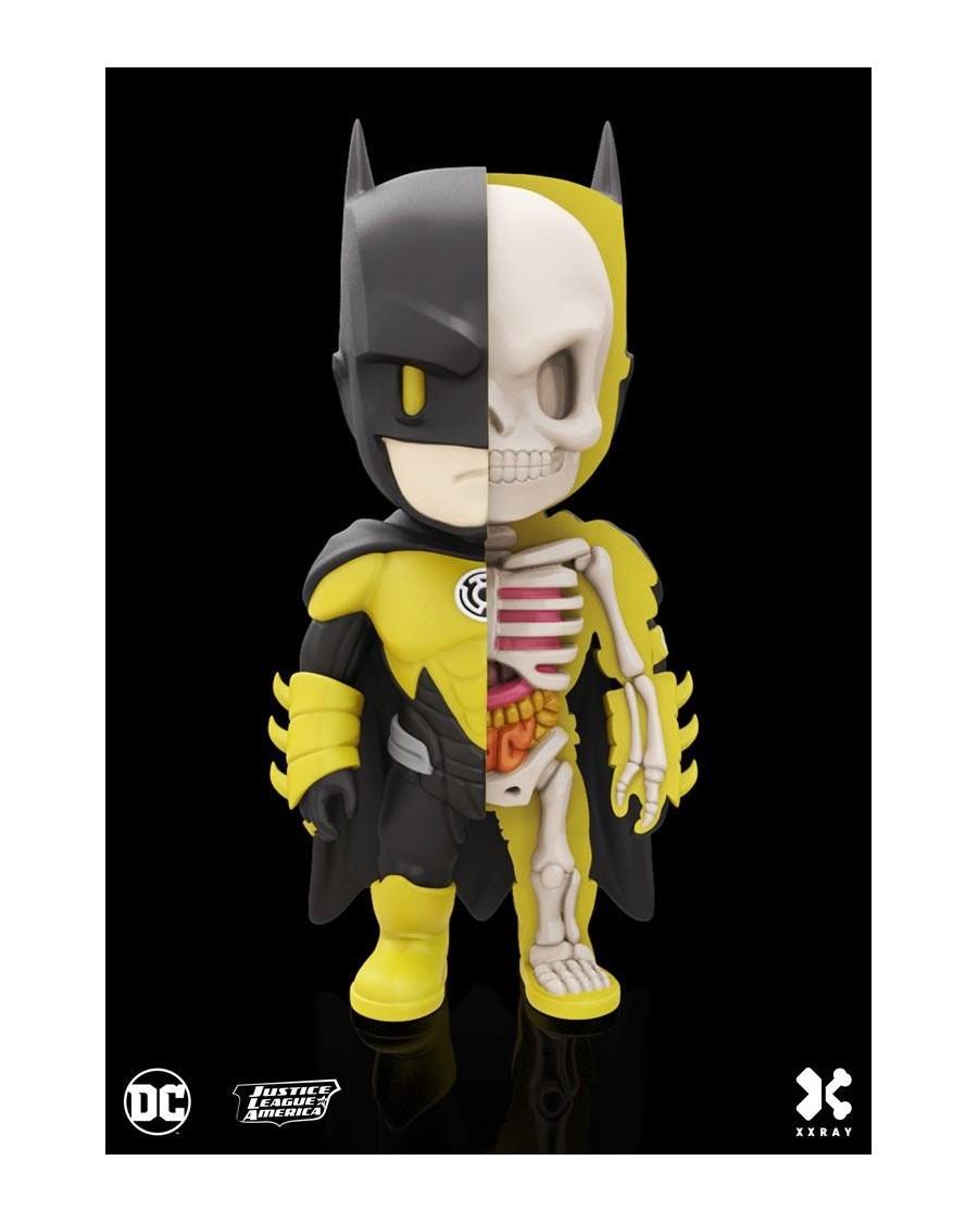 XXRAY x DC COMICS - BATMAN YELLOW LANTERN DISSECTED VINYL ART FIGURE (10cm)