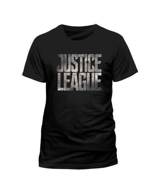 OFFICIAL DC COMICS - JUSTICE LEAGUE SYMBOL BLACK T-SHIRT