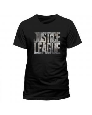 OFFICIAL DC COMICS - JUSTICE LEAGUE SYMBOL BLACK T-SHIRT