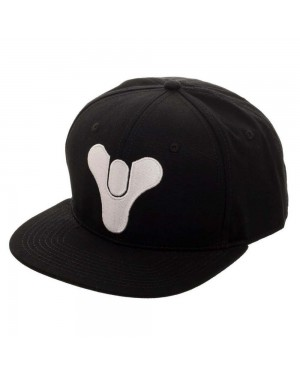 OFFICIAL BUNGIE - DESTINY WHITE EMBROIDERED SYMBOL BLACK SNAPBACK CAP