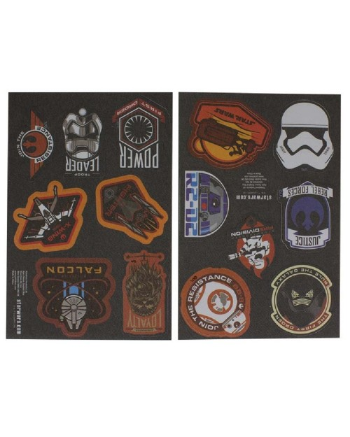 OFFICIAL STAR WARS - 14 IRON ON PATCHES SET