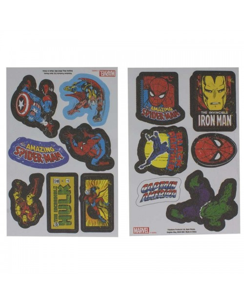 OFFICIAL MARVEL COMICS - 13 IRON ON PATCHES SET