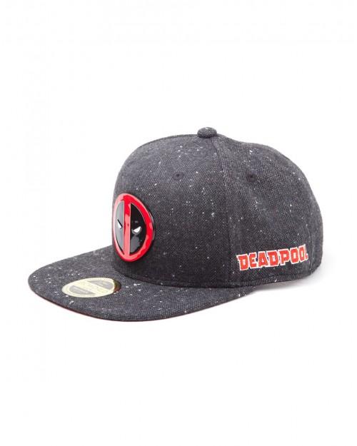 OFFICIAL MARVEL COMICS - DEADPOOL METAL SYMBOL BLACK SNAPBACK CAP