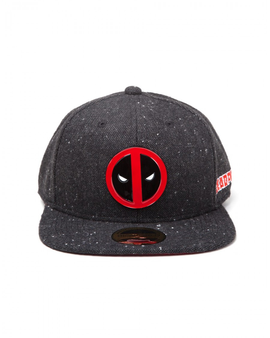 OFFICIAL MARVEL COMICS - DEADPOOL METAL SYMBOL BLACK SNAPBACK CAP