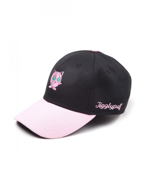 OFFICIAL NINTENDO - POKEMON JIGGLYPUFF BLACK CURVED BASEBALL CAP
