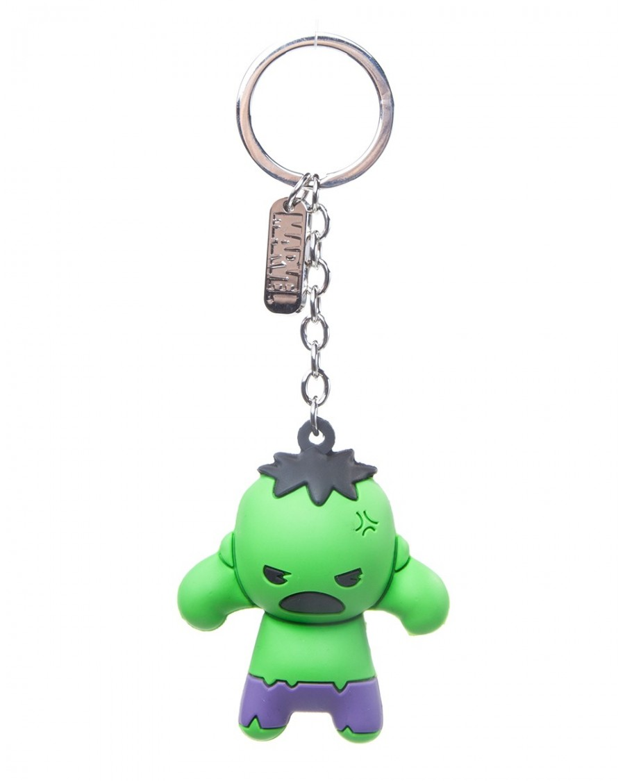 OFFICIAL MARVEL COMICS - THE INCREDIBLE HULK 3D RUBBER KEYRING