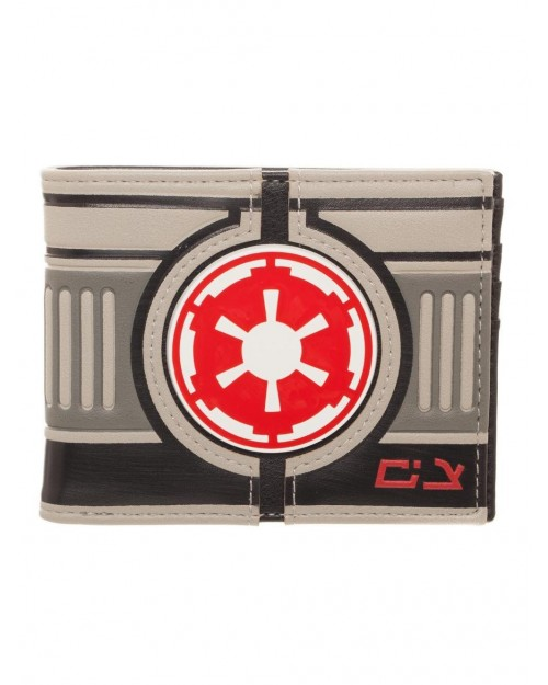 OFFICIAL STAR WARS - GALACTIC EMPIRE SYMBOL AT-AT STYLED BI-FOLD WALLET
