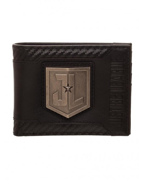 OFFICIAL DC COMICS - JUSTICE LEAGUE SHIELD SYMBOL BLACK BI-FOLD WALLET
