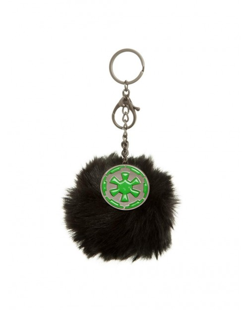 OFFICIAL STAR WARS - GALACTIC EMPIRE SYMBOL FURY POM HANDBAG CHARM KEYRING