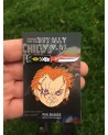 CHILD'S PLAY - CHUCKY FACE & KNIFE ENAMEL METAL PIN BADGES (SET OF 2)