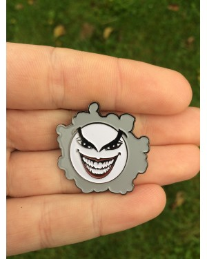POKEMON x BATMAN COMIC BOOK STYLED JASTLY (GASTLY AND THE JOKER) ENAMEL METAL PIN BADGE