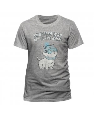 "OFFICIAL RICK AND MORTY - ""SNUFFLES WAS MY SLAVE NAME"" GREY T-SHIRT"