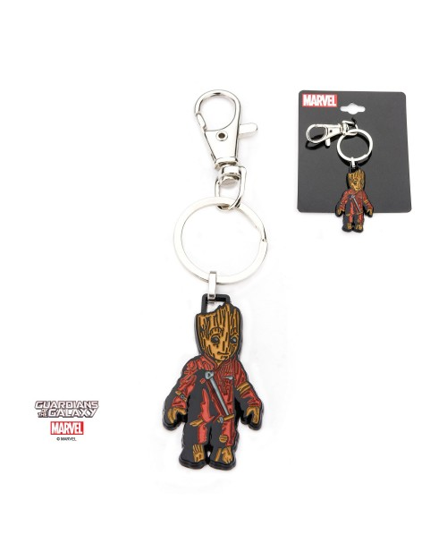 OFFICIAL MARVEL COMICS - GROOT ENAMEL METAL KEYRING