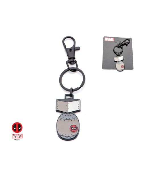 OFFICIAL MARVEL COMICS - DEADPOOL BOMB ENAMEL METAL KEYRING