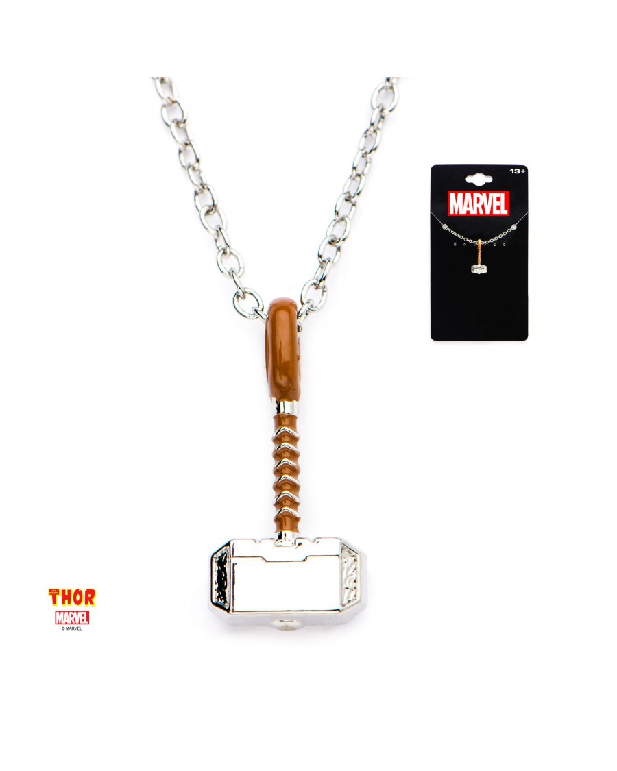 MARVEL COMICS: THOR HAMMER PENDANT ON CHAIN NECKLACE