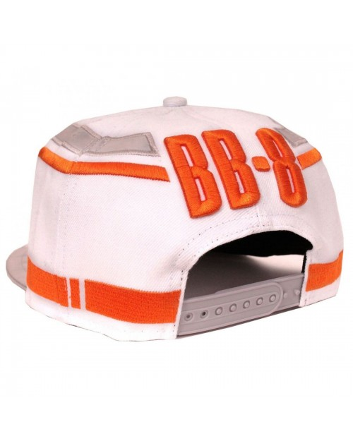STAR WARS THE FORCE AWAKENS BB-8 WHITE COSTUME SNAPBACK CAP