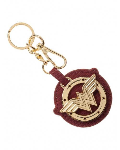 OFFICIAL DC COMIC WONDER WOMAN SYMBOL METAL AND PU KEYRING