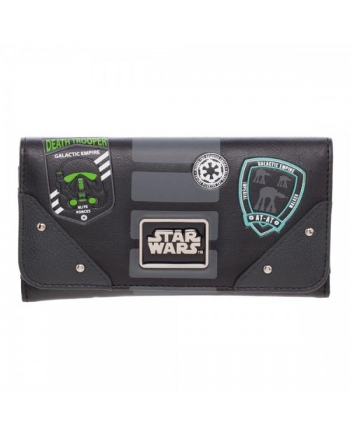 OFFICIAL STAR WARS ROGUE ONE - EMPIRE SYMBOLS BLACK PURSE/ WALLET