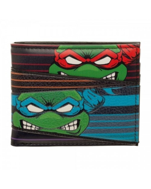 OFFICIAL TEENAGE MUTANT NINJA TURTLES - RAPHAEL, LEONARDO, MICHELANGELO & DONATELLO BI-FOLD WALLET