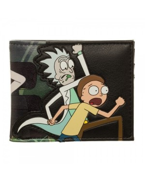 OFFICIAL RICK AND MORTY RUNNING PU BI-FOLD WALLET
