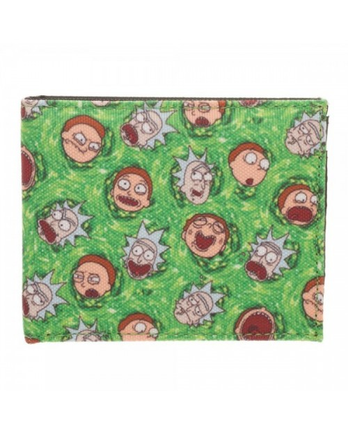 OFFICIAL RICK AND MORTY PORTAL FACES BI-FOLD WALLET