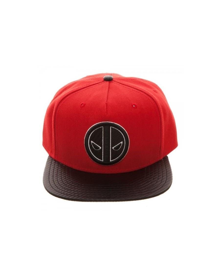 OFFICIAL MARVEL COMICS - DEADPOOL CARBON FIBER STYLED RED SNAPBACK CAP