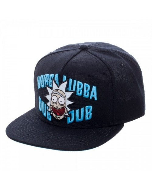 OFFICIAL RICK AND MORTY - WUBBA LUBBA DUB DUB RICK BLACK SNAPBACK CAP