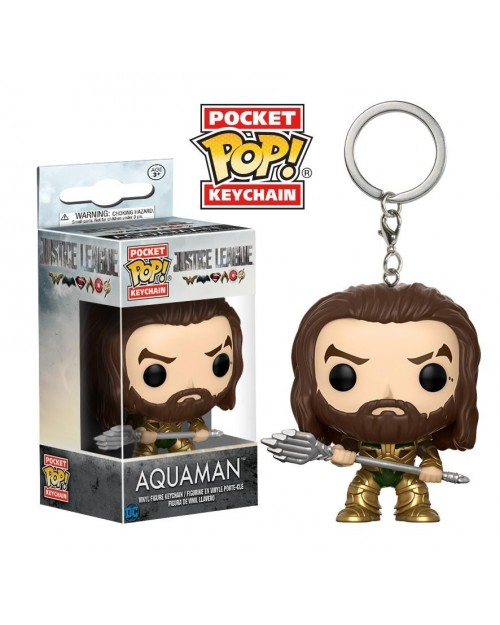 OFFICIAL JUSTICE LEAGUE (MOVIE) - AQUAMAN POCKET POP! VINYL KEYRING
