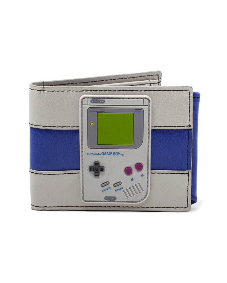 OFFICIAL NINTENDO - GAME BOY RUBBER PATCH GREY BI-FOLD WALLET