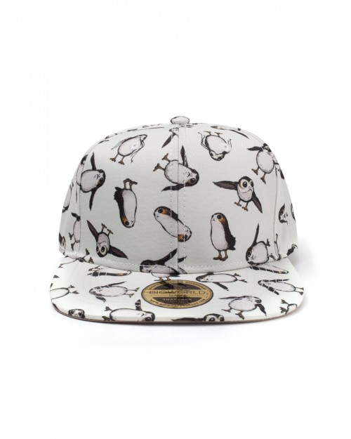 STAR WARS: THE LAST JEDI - ALL OVER PRINT PORGS CREAM SNAPBACK CAP