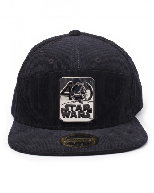 STAR WARS - 40 YEARS ANNIVERSARY METAL BADGE BLACK SNAPBACK CAP