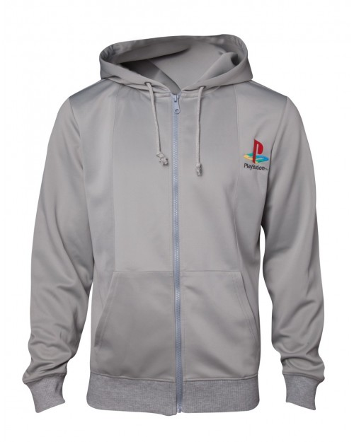 OFFICIAL SONY - PLAYSTATION ONE CONSOLE GREY HOODIE JUMPER