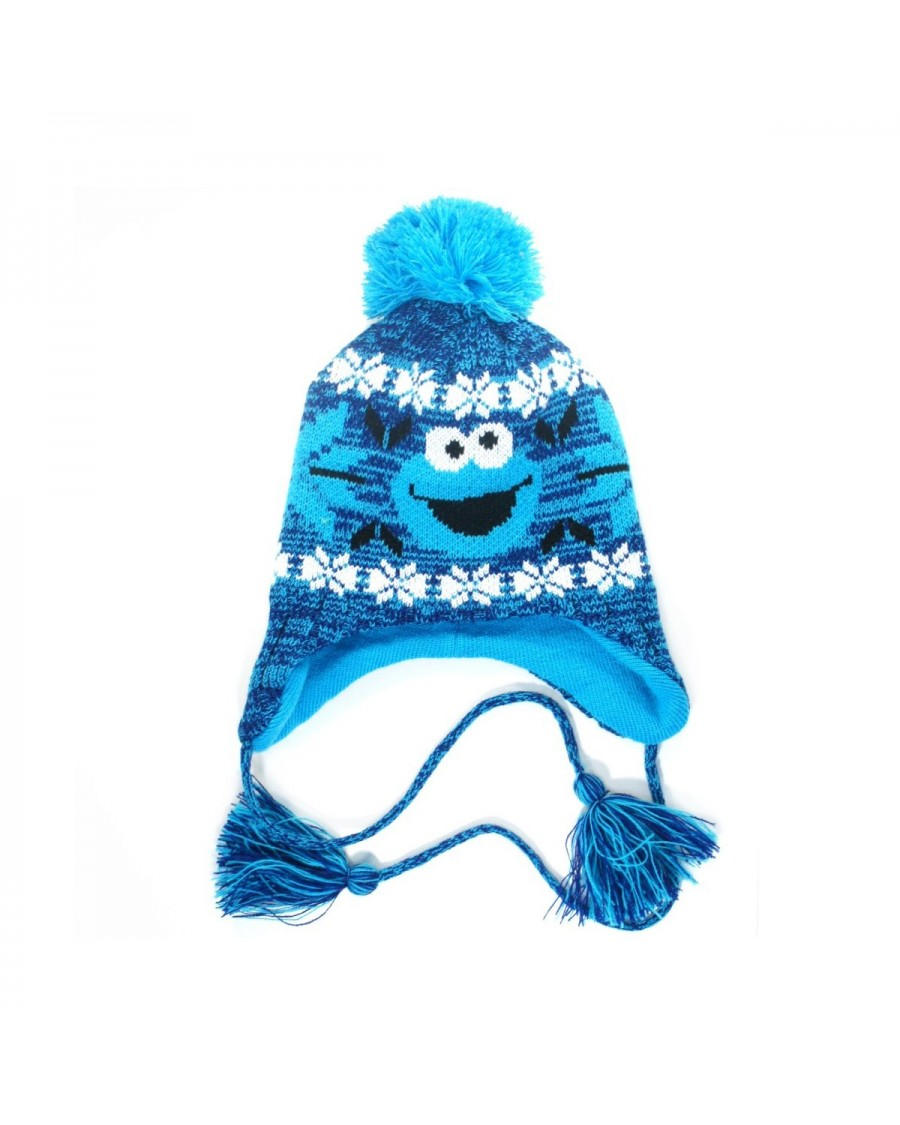 OFFICIAL SESAME STREET - COOKIE MONSTER WINTER LAPLANDER BEANIE