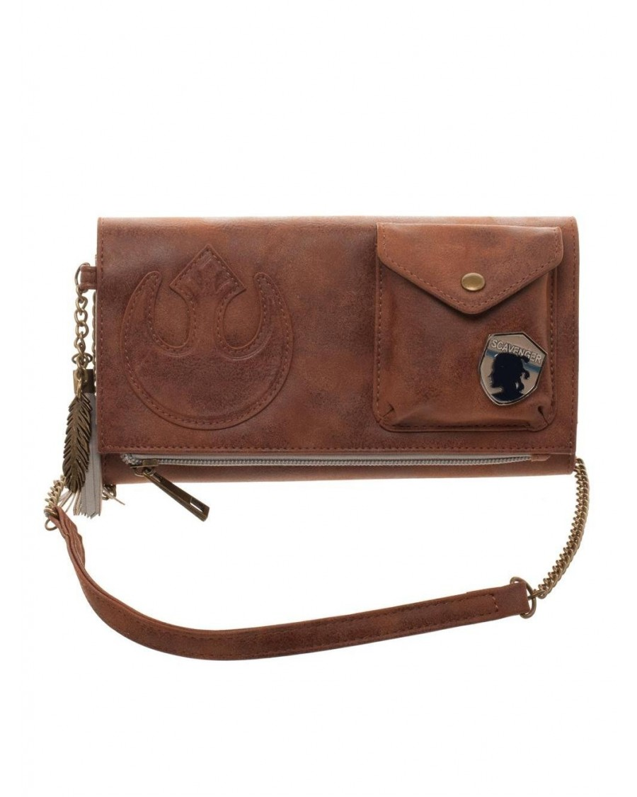 OFFICIAL STAR WARS: THE LAST JEDI - REY REBEL BROWN CROSS BODY PURSE/ BAG