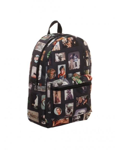 OFFICIAL STAR WARS - RETRO PICTURES COLLAGE BLACK BACKPACK BAG