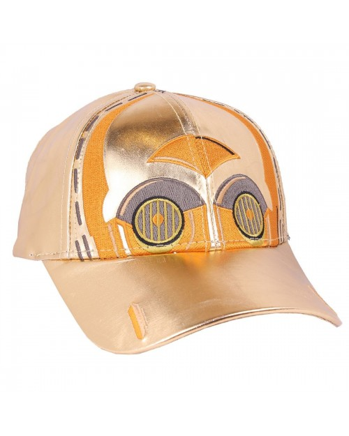 OFFICIAL STAR WARS: THE LAST JEDI - C3PO COSTUME STYLED STRAPBACK BASEBALL CAP
