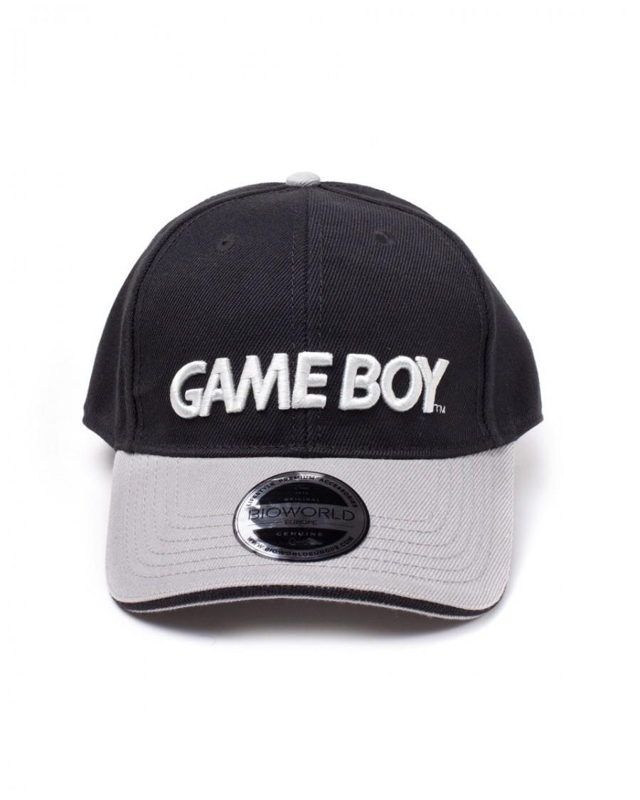 c603686326 OFFICIAL NINTENDO - GAME BOY LOGO BLACK CURVED BILL BASEBALL CAP ...