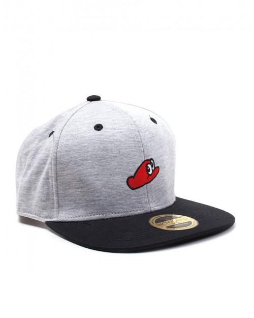OFFICIAL NINTENDO - SUPER MARIO ODYSSEY HAT GREY SNAPBACK CAP
