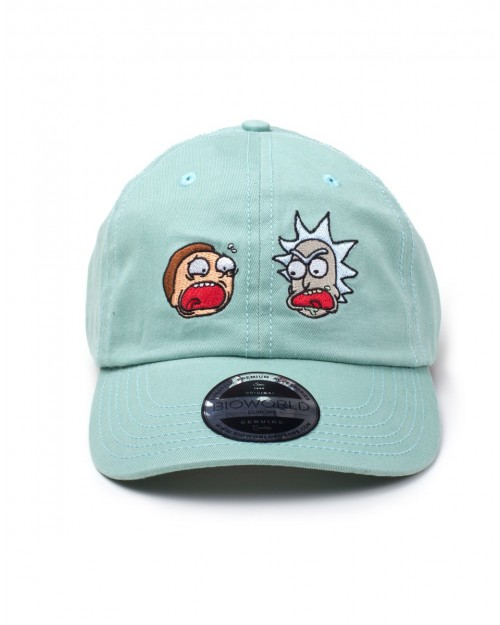 OFFICIAL RICK AND MORTY - FACES TURQUOISE DAD HAT