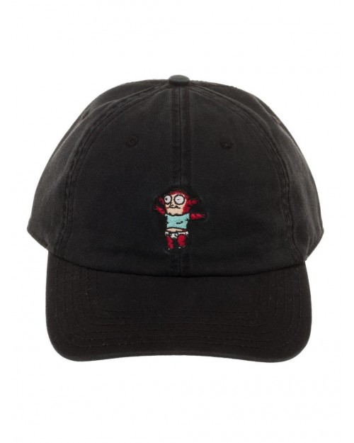 OFFICIAL RICK AND MORTY - MORTIMER - MORTY JR. BLACK DAD HAT