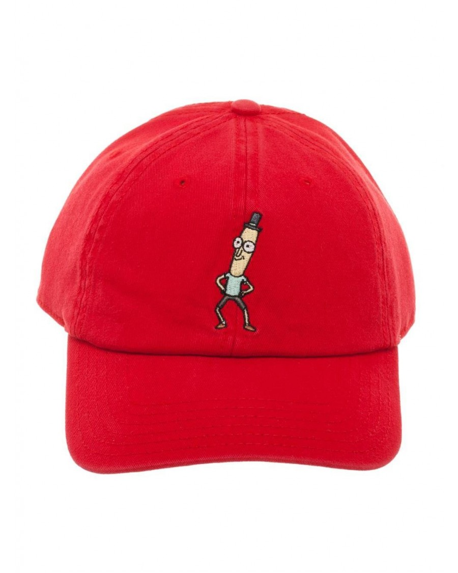 OFFICIAL RICK AND MORTY - MR POOPYBUTTHOLE RED DAD HAT