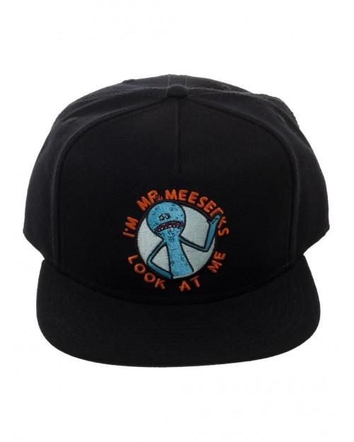 OFFICIAL RICK AND MORTY - I'M MR MEESEEKS LOOK AT ME BLACK SNAPBACK CAP